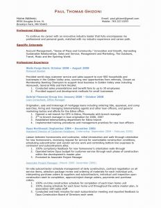Project Manager Resume - Project Coordinator Resume Refrence Inspirational Resume Tutor