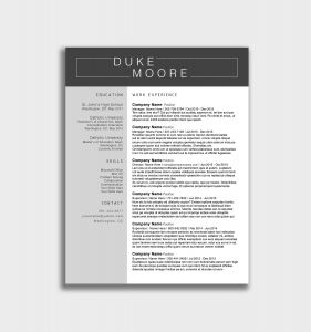 Project Manager Resume Template Microsoft Word - Eye Catching Resume Templates Microsoft Word Free Fresh Project
