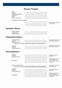 Promotional Model Resume Template - Fill In Resume Template Awesome Promotional Model Resume From Https