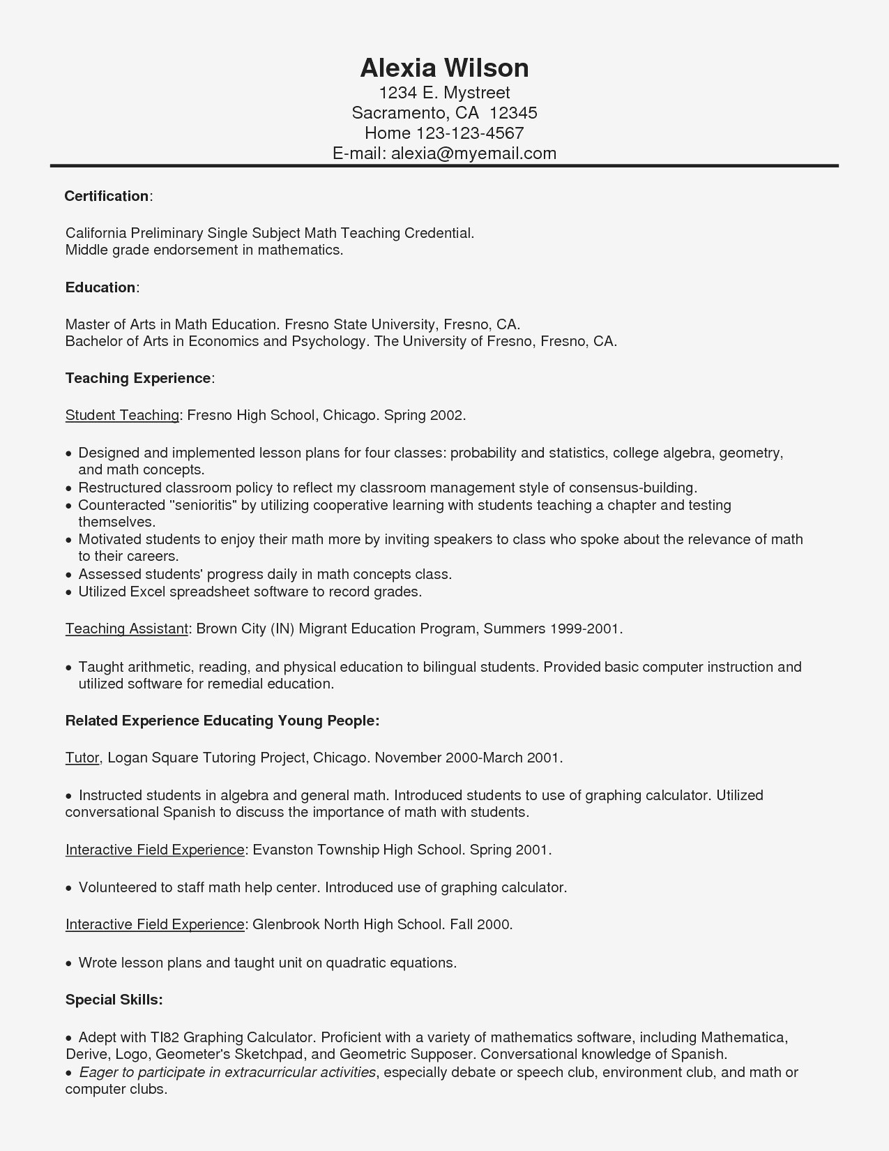 psychology resume template example-Resume 14-e