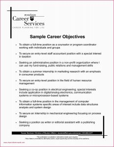 Public Relations Resume - Sample Career Objective Customer Service Resume Example Resume