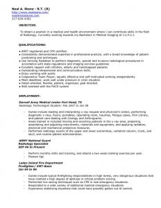 Radiology Resume - Radiologic Technologist Resume Templates Paragraphrewriter