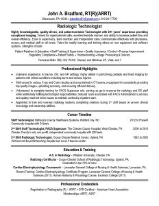 Radiology Resume - Radiologic Technologist Resume Templates Inspirational Radiologic