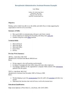 Receptionist Resume Template - Resume Objective Examples for Receptionist Save 30 Great