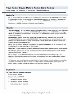 Renters Resume Template - Résume Les Tenants