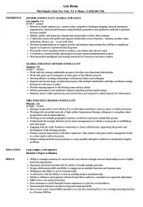 Responsibilities Of A Car Sales Consultant Resume - Strategy Senior Consultant Resume Samples