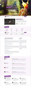 Responsive Resume Template - 41 HTML5 Resume Templates Free Samples Examples format Download