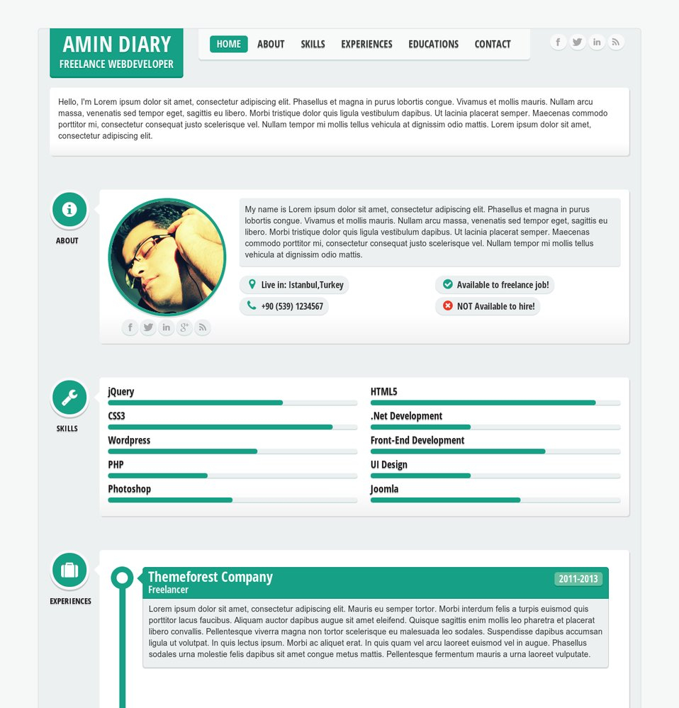 responsive resume template Collection-ment on this theme 10-b