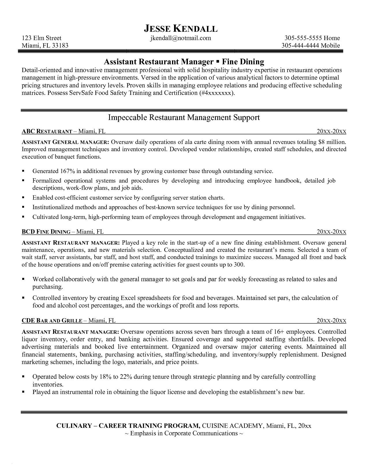 restaurant manager resume template example-Restaurant Manager Resume Template Unique Lovely Grapher Resume Sample Beautiful Resume Quotes 0d assistant 6-l