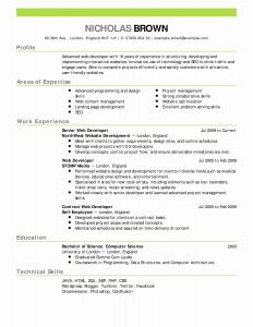 Resume Template Chronological - Reverse Chronological Resume Template Inspirational Chronological