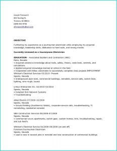 Resume Template Electrician - 40 Unbelievable Resume for Electrician