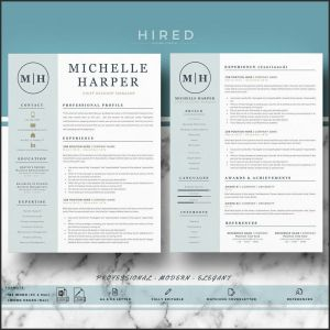 Resume Template Etsy - Modern Resume Templates Best Design Resume Templates Etsy Resume
