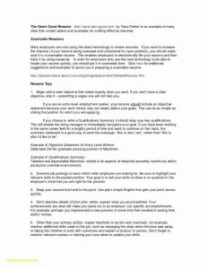 Resume Template for Maintenance Position - 75 Elegant S Emt Resume Skills Examples