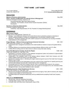 Resume Template for Mba Graduates - 24 Mba Resume Template