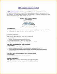 Resume Template for Mba Graduates - Lebenslauf Fice Neu Hr Resume Sample Best Mba Resume format