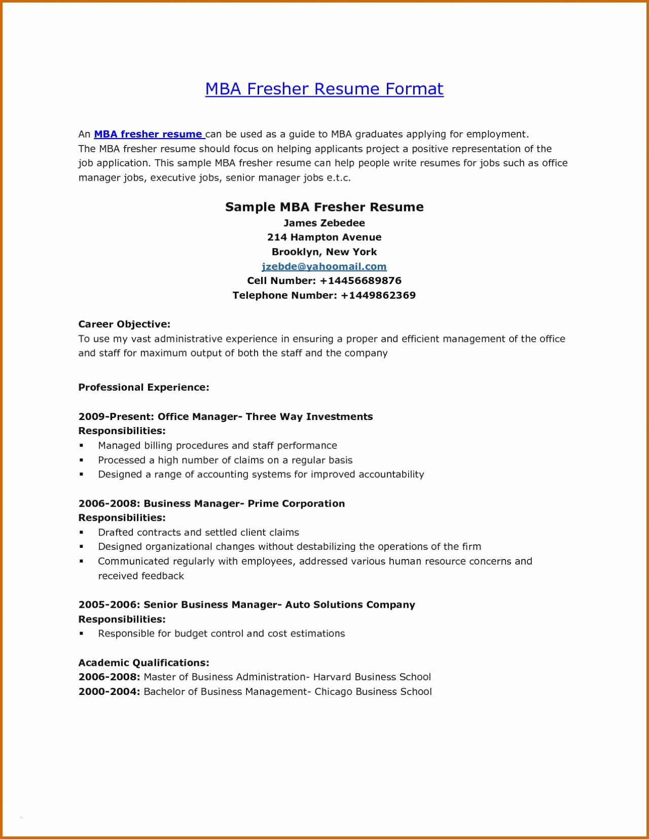 resume template for mba graduates example-Lebenslauf fice Neu Hr Resume Sample Best Mba Resume format Download now Wunderbar 10-f
