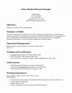 Resume Template for Nursing Student - Student Resume Examples Best Rn Resume Sample Unique Writing A