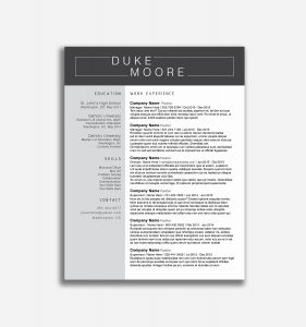 Resume Template for Pages Mac - Free Resume Templates for Mac Pages