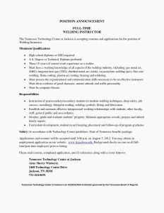 Resume Template for Part Time Job - 20 Best Welding Resume 2018