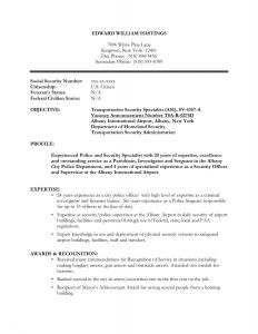 Resume Template for Police Officer - Security Ficer Resume Template Save Application Security Resume