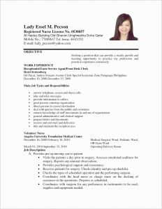 Resume Template for Receptionist - Disney Cover Letter Awesome Lovely Resume Pdf Beautiful Resume