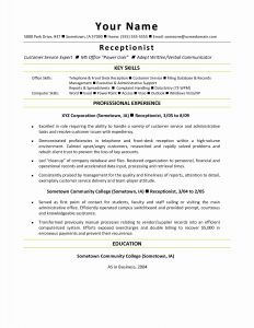 Resume Template for Receptionist - Nurse assistant Resume Inspirational Bsw Resume 0d Sample Resume