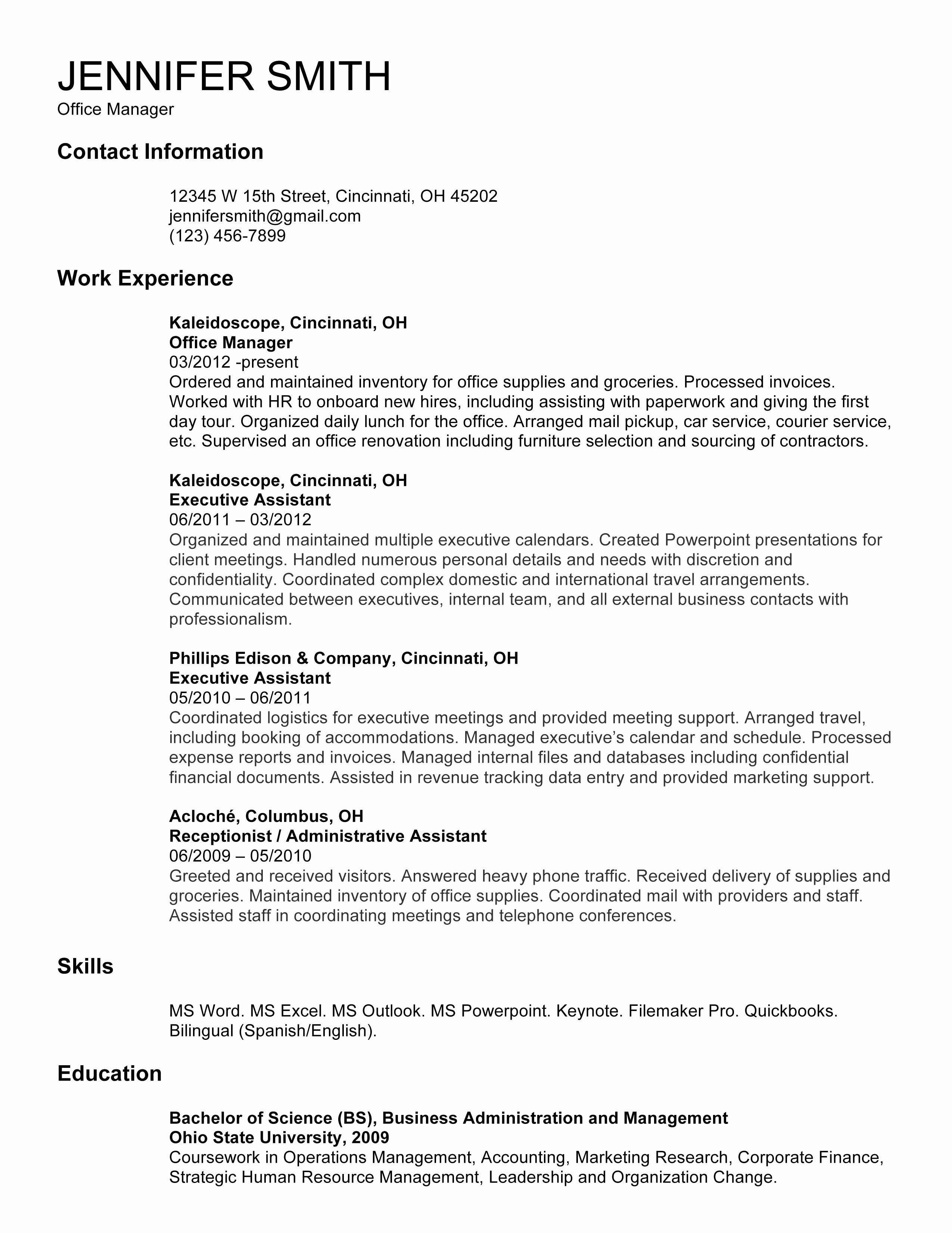 resume template for receptionist example-How To Make A Resume For A Receptionist Job Valid Fresh Reception Resume Luxury American Sample New Student 0d Where 2-n