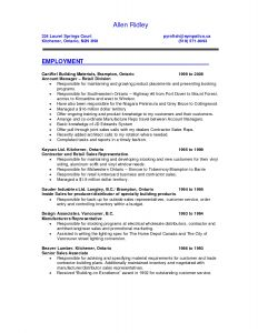 Resume Template for Sales associate - 41 Fresh Sales Resume Sample