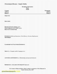 Resume Template for Scholarships - Resume Templates High School Students No Experience Simple Unique