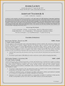 Resume Template for Teaching assistant - Resume for Preschool Teacher Inspirational Resume for Teacher