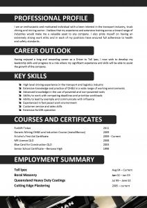Resume Template for Truck Driver - We Can Help with Professional Resume Writing Resume Templates