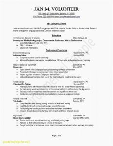 Resume Template for Undergraduate Student - Resume Examples for College Students Internships Popular Fresh