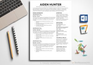 Resume Template Mac Pages - Resume Template Aiden Hunter Bestresumes