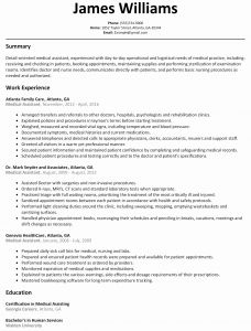 Resume Template Medical assistant - Resume Examples for Medical assistant 2018 Medical Resume Samples