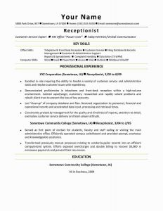 Resume Template Receptionist - Construction Worker Resume Examples and Samples Beautiful Elegant