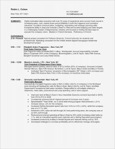 Resume Template Retail Sales - Resume for Internal Promotion Template Sample Pdf Beautiful American