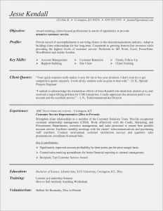 Resume Template Science - Resume Templates for Customer Service Fresh Beautiful Grapher Resume