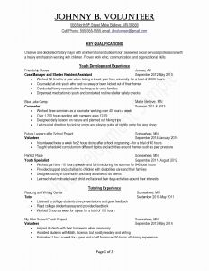 Resume Template with Volunteer Experience - Resume Reference Template Fresh Elegant Basic Resume Template Luxury