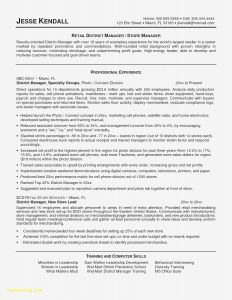 Retail Management Resume Template - Retail Store Manager Sample Resume