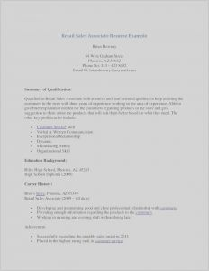 Retail Sales associate Resume Template - 35 Luxury Sample Resume Retail Sales associate No Experience
