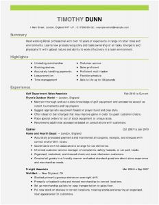 Retail Sales Resume Template - Shop Resume Templates Free Creative Resume Template Awesome