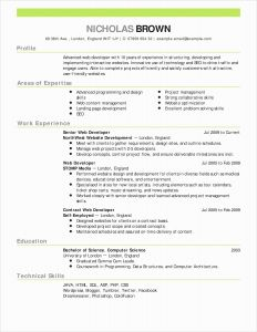 Rfp Resume Template - 40 Fresh Elegant Resume Template