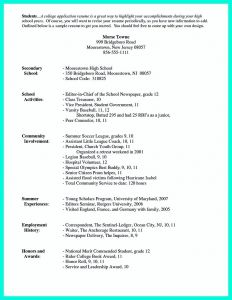 Rutgers Resume Template - College Admission Resume Lovely College Application Resume formats