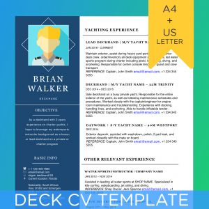 Sailing Resume Template - Yachting Cv Template solab Rural