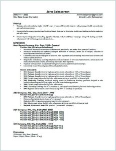 Salesperson Resume Template - the Salesperson Resume Can Be A Good Start when You are Starting to
