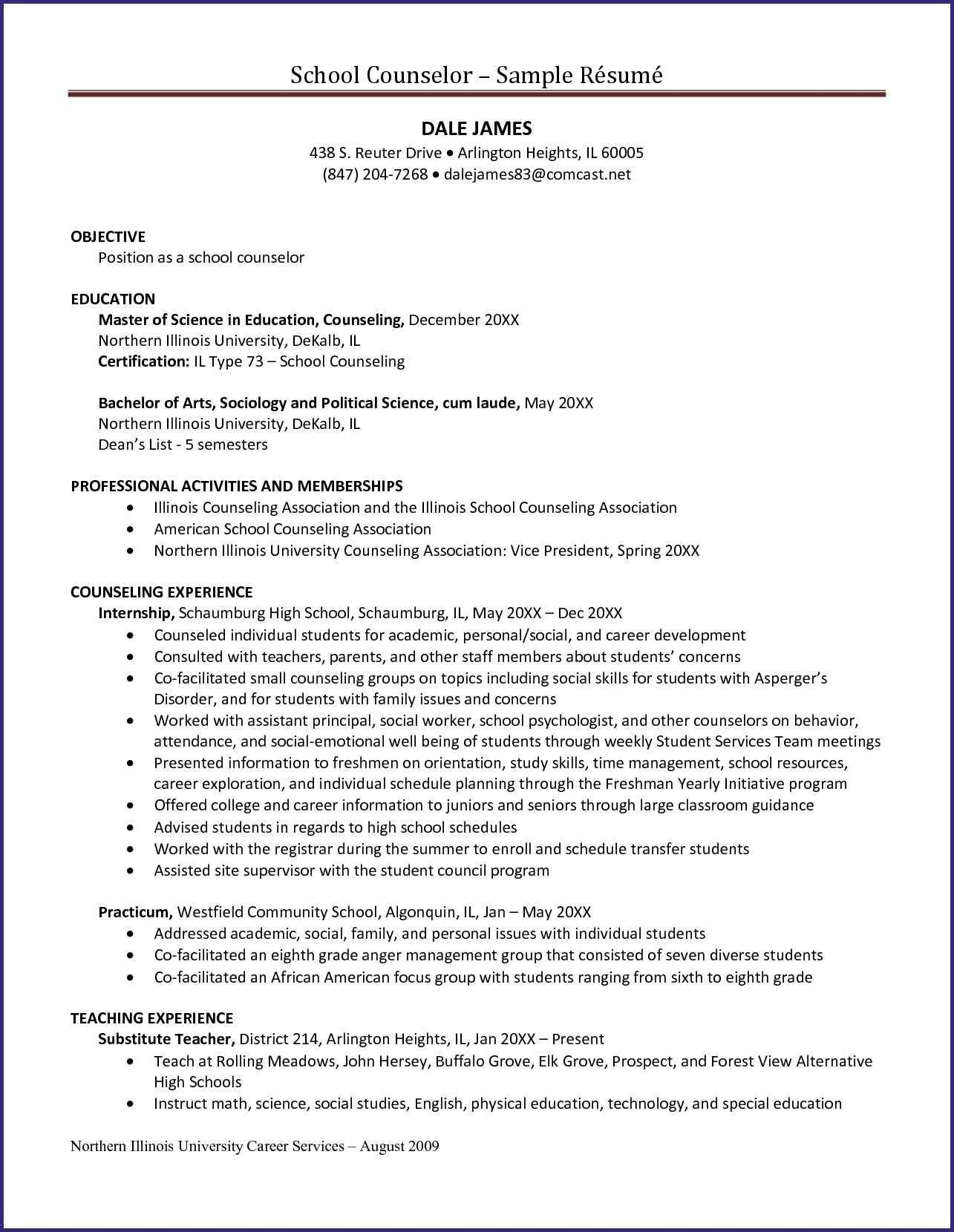 school counselor resume template Collection-Camp Counselor Resume 23 Camp Counselor Resume 12-b
