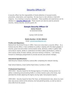 Security Guard Resume Template - Sample Security Ficer Cover Letter New Security Guard Cover Letter