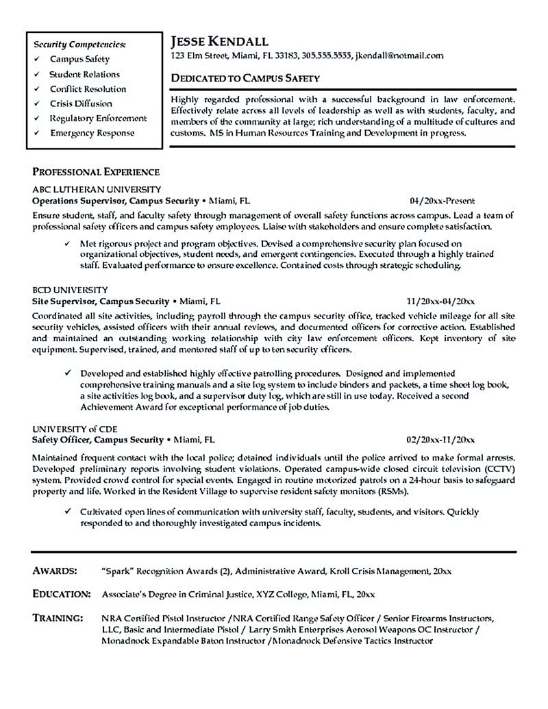 83 Security Officer Resume Examples