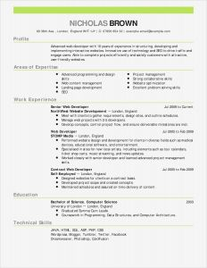 Self Employed Resume Template - Elegant Free Resume Template for Word