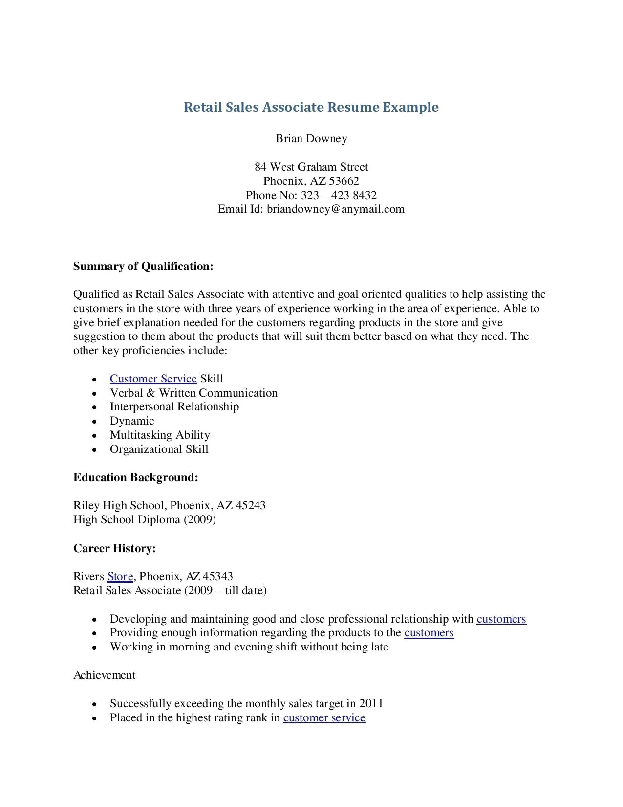 showroom sales resume example-Sample Retail Resume Inspirational Retail Resume 0d Archives Bcbostonians1986 19-l